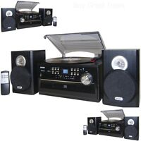 NEW LP JENSEN 33/45/78 RPM RECORD PLAYER CD CASSETTE PLAYER RADIO SYSTEM COMBO