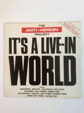 ANTI-HEROIN PROJECT IT'S A LIVE IN WORLD 1986 2x VINYL LP VG/VG Comp'n McCartney