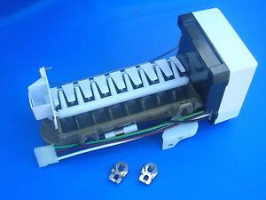 Icemaker unit Genuine OEM Whirlpool # 4317943 + support, WH, cover + SS clips