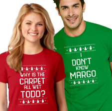 TODD & MARGO Couple T-shirt Christmas Vacation funny unisex ladies men tee