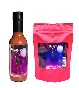 Carolina Reaper Hot Sauce 5 Dried Chili Peppers +2 Free Gift Set Wicked Reaper