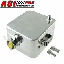 Universal Polished 2.5L Aluminum Radiator Coolant Overflow Tank Water Bottle PRO