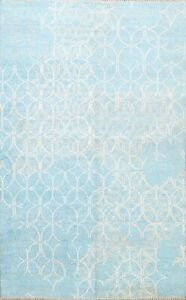 Contemporary Art And Crafts Modern Abstract Hand-knotted Oriental Area Rug 6x8