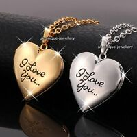 BLACK FRIDAY - Rose Gold & Silver Locket Heart Necklaces Xmas Gifts For Her Love