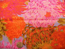 Fat Quarter Kaffe Fassett Chrysanthemum Pink - Rowan Cotton Quilting Fabrics