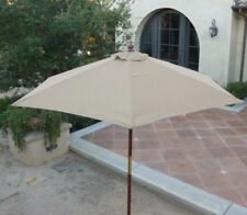 7ft wooden market umbrella with Tilt Mechanism - Taupe