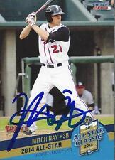Mitch Nay 2014 Midwest League All Star Lansing Lugnuts Signed Card