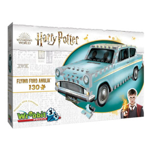 Wrebbit 3D Harry Potter Flying Ford Anglia 130 Piece Jigsaw Puzzle NEW
