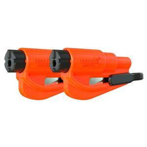 resqme® Car Escape Tool - Orange, 2 pack, Seatbelt Cutter / Window Breaker