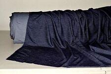 """Stretch Jersey Knit Yarn Dyed Indigo Denim Look 6 oz sq yd  60"""" Wide Fabric BTY"""