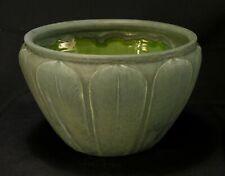 1907 Ruth Erickson Grueby Pottery Jardiniere Matte Green Leaves Motif 5 3/8 Tall