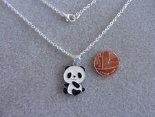 "Cutie Panda Enamel Charm Pendant Necklace 16"" Chain Birthday Gift # 70"