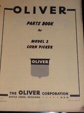 Oliver Parts Book Model 3 Corn Picker