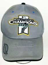 FLORIDA MARLINS WORLD SERIES CHAMPS BASEBALL HAT BEIGE NEW ERA 100TH ANNIVERSARY