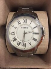 Fossil Grant Stainless Steel White Dial Analog Men's Watch FS4734
