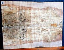 Hard Spalted Curly Maple Wood 8566 Luthier Book Match  27 x 21 x .500
