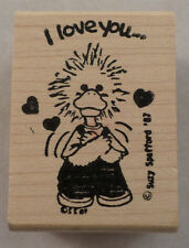 Suzy'S Zoo I Love You Duck 1987  Wooden Rubber Stamp