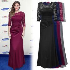 Women's Formal Vintage Satin Lace Dress