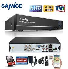 SANNCE 4Ch AHD / TVI DVR 1080N NVR Video Recorder for IP/AHD/Analog Camera +1TB