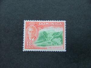 Dominica KGVI 1951 48c bright green & red-orange SG131 MM