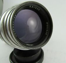 TELEMAR-22 f5,6 200mm telephoto lens for Leica M39 mount Rangefinder camera USSR