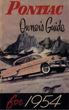1954 Pontiac Owners Manual User Guide Reference Operator Book Fuses Fluids OEM