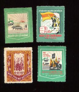 South Vietnam MNH 4 Postal Labels. 1970-1971-1973. MNH