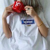 Sup x Takashi Murakami Relief Box Logo Tee White T-Shirt🔥FOR WOMEN🔥 3 COLORS