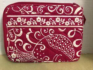 Vera Bradley Magenta & White Floral Pattern Mini IPad / Tablet /Kindle Case NWOT