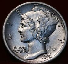 Uncirculated 1916 Philadelphia Mint Silver Mercury Dime