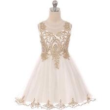 IVORY Flower Girl Dress Recital Prom Pageant Dance Graduation Bridesmaid Formal
