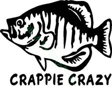 Crappie Crazy vinyl decal/sticker fish fishing boat river lake phrase