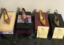 Just The Right Shoe Lot Of (4) In Original Boxes Stiletto Heels Brown Blue Gold