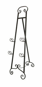 Zeckos Large 50 Inch Tall Wrought Iron Display Easel Metal Art Stand