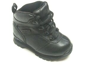 Timberland Splitrock Toddlers Boys Shoes Black Leather Boots Uk Size 5 42887