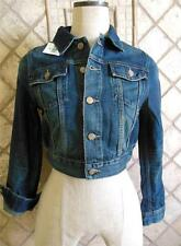 Polo Ralph Lauren 14 Girl XS Women NWT Blue Denim Jean Jacket Short Crop Cotton