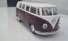 VW Volkswagen Classique Bus 1962 Marron Kinsmart Jouet Miniature 1/32 Echelle