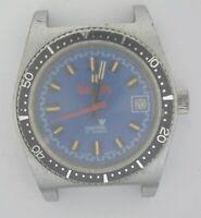VTG CRONEL MARLBORO Chrome Plated Watch. Ref: 410, Cal: EB 8800. For Service