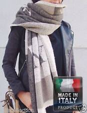 Bernicia Wool Winter Rectangle Large Wrap Around Scarf  - Made in Italy IA-0414
