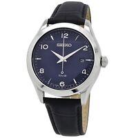 Seiko Essentials Solar Men's Blue Dial Watch SNE491