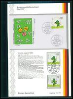 BRD ETSB 1999/21d ERSTTAGS-SAMMELBLATT KINDERFIGUREN TABALUGA TEDDY BÄR z2619