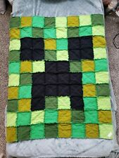 Minecraft Rag Quilt Blanket CREEPER character gift kids birthday~FREE SHIPPING