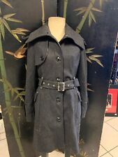 MISS SIXTY M60 Dark Gray Belted Jacket/Coat Women's Size Large