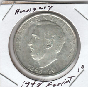 1948 10 Forint Hungary Silver