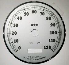 5J Harley Davidson MPH Speedometer Silver Gauge Face 12201318