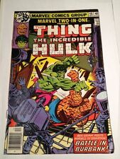Marvel Two In One # 46 Thing Battles Hulk