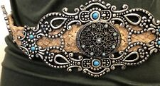 Urban Cowboy Mexican,Belt,Western,Cowgirl,Coachella,leather,M,Rodeo,silver