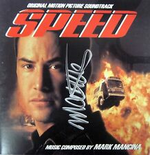 SPEED Keanu Reeves SOUNDTRACK CD Mark Mancina SCORE Autographed SIGNED Rare OOP!