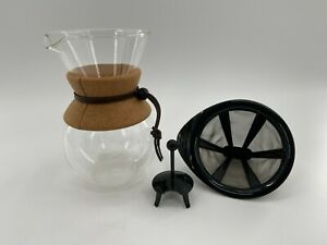 Bodum Pour Over Coffee Maker Permanent Filter Glass 34 Ounce Chemex Style NICE