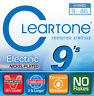 CLEARTONE 9-46 HYBRID ELECTRIC GUITAR STRINGS NICKEL-PLATED HEX CORE